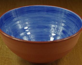 Handmade Ceramic Bowl, Blue Terracotta Bowl, Pottery Bowl, Handmade Bowl