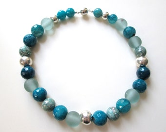 Turquoise agate necklace bling