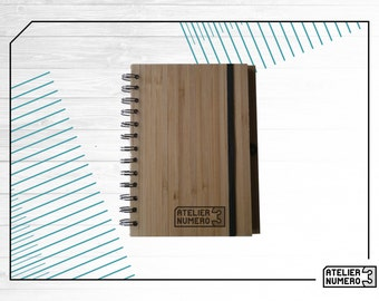 Bamboo recycled notebook customisable