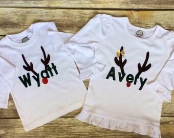 Reindeer Name Shirts