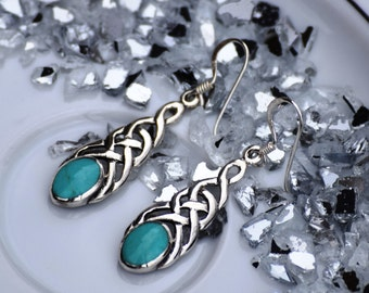 Celtic Earring with Turquoise