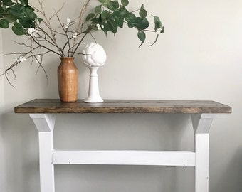 Wonderful Farmhouse Console Table, Rustic Console Table, Rustic Serving Table,  Console Table, Entryway