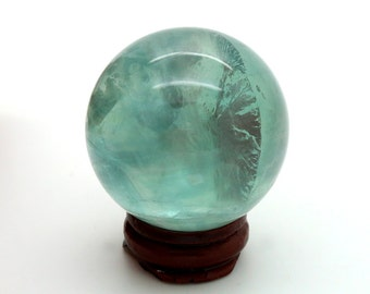 Clear Green Fluorite Crystal Ball – 168g