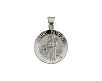 St patricks pendant etsy 14k st patrick pendant st patrick medal st patrick charm patron aloadofball Images