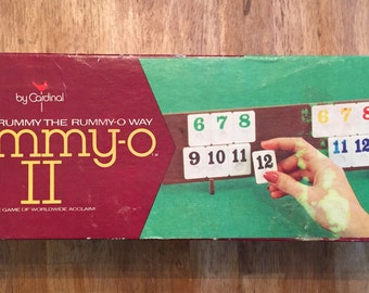 1977 Complete / Tiles Unopened     Rummy-O II Game by Cardinal Ind.