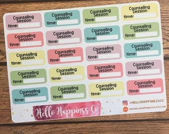 Counseling Stickers - Therapy Stickers - Behavioral Therapy Stickers- Appointment Stickers - Planner Stickers - Functional Stickers