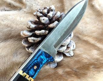Handmade knife, damascus knife, hunting knife. 14.173