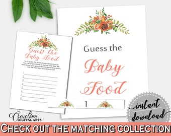 Baby Food Guessing Baby Shower Baby Food Guessing Spring Baby Shower Baby Food Guessing Baby Shower Spring Baby Food Guessing Copper VH1KL