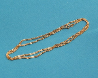 22 inch 14k gold rope chain