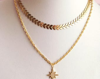 Wishing star pendant chain