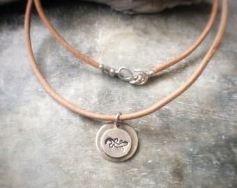 Silver Gecko Necklace - Sterling Silver Lizard Necklace - Gecko Pendant