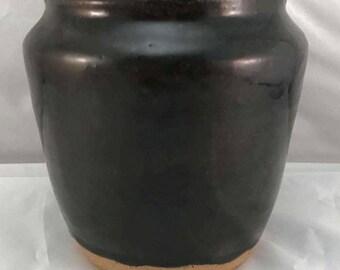 Dark Brown Vase - Stoneware