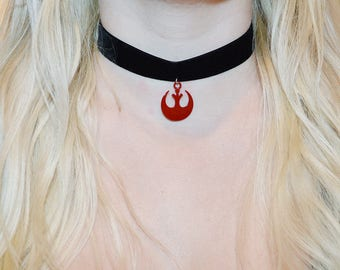 Star Wars Velvet Rebel Alliance Choker
