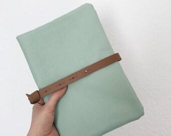 Diaper bag, diaper bag, diaper case in mint with light blue zipper