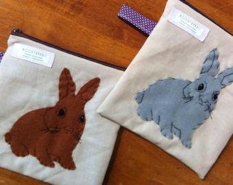 Moody Rabbit Zip Bags