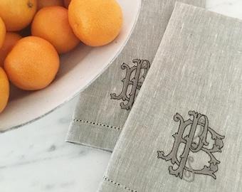 Portia Monogram Hand Towel
