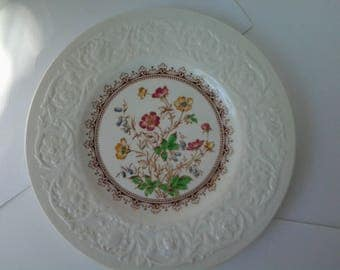 "Booth's England 7"" plate in the Corinthian shape with Wild Rose pattern decoration"