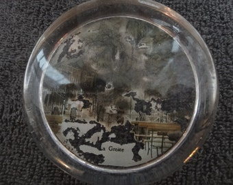 vintage glass paperweight as per photo