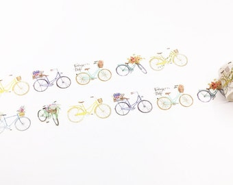 Bicycle With Flowers Washi Tape