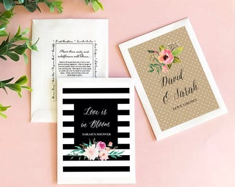 Personalized Flower Seed Favors-garden wedding, floral wedding favors, garden favors, floral seed pack favors