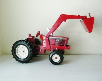 Vintage Toy Tractor with Front Loader