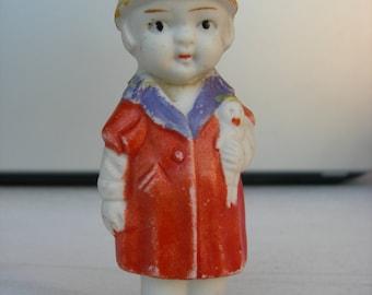 Doll - figurine Art Deco, Bisque porcelain
