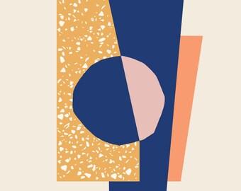 """Abstract Modern Fine Art Print - """"Mauna"""""""