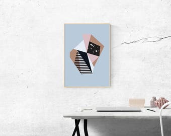 "Abstract Modern Fine Art Print - ""Neapolitan"""