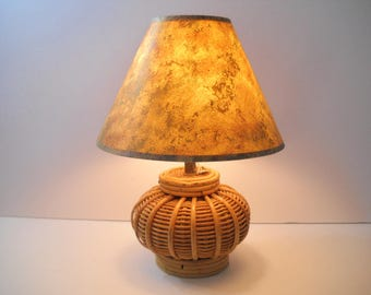 Basket Lamp with Matching Shade
