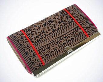 Hmong Batik Clutch