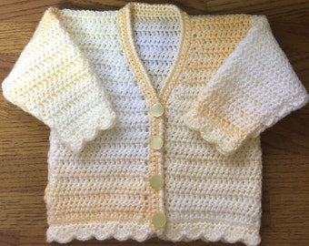 Printed DK Crochet Pattern For Baby/Child V Neck Cardigan Sizes Birth to 6 years (1006)