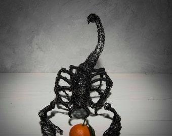 Wire sculpture, Father's day gift, Scorpion sculpture, Metal sculpture, Steampunk art, Home Decor, Gift men, Woodland decor, Wedding gift