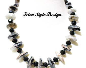 Chunky Banded Agate Statement Necklace
