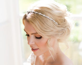 Callia Swarovski crystallised headband. Beautiful bridal headband, bridal headpiece. Wedding headpiece. Wedding Tiara.