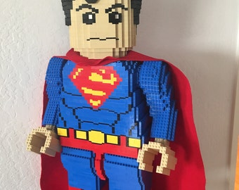 30-inch Superman Lego Sculpture