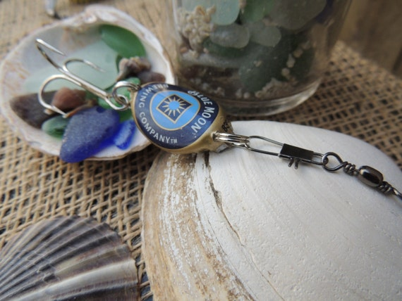 Bottle Cap Fishing Lure (Blue Moon)