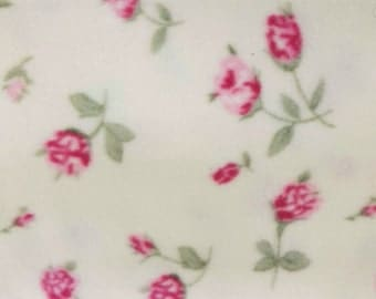 Pink Roses Anti-Pill Fleece Fabric by the yard