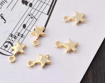 5 of 14K gf tiny star charm pendant  (10x6.5mm) BQ2