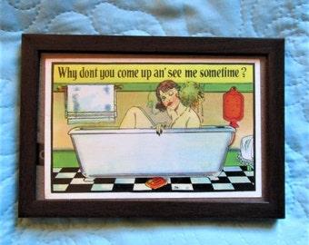 Vintage American Card, 30s postcards, humorous postcards, greeting cards, funny cards, american humor, bathroom humor
