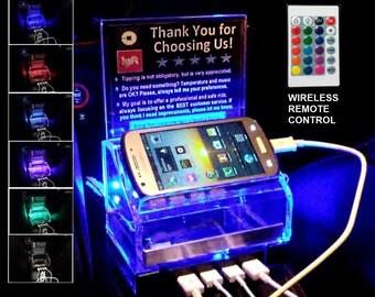 Rideshare FAST Charging Station Remote Control LED light Tip box Uber Lyft sign
