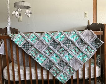 Made to Order, Custom Rag Quilt, Crib size, Baby or Lap