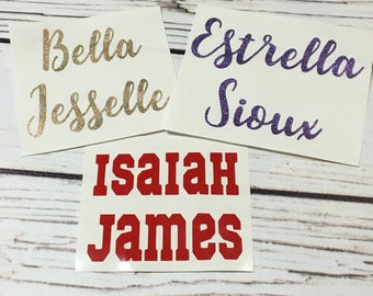 Name Decals | YETI Decal, Car Decal, Vinyl Decal