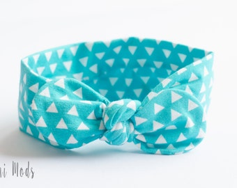 Light Teal Top Knot Headband / Baby Headband / Knot Baby Headwrap / Headband / Tie knot Turban Headband / Baby Shower Gift/UK