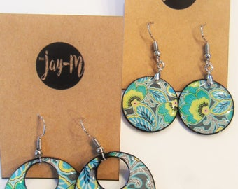 Summer color earrings
