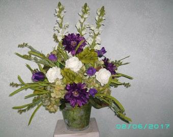 White House Silk Flora Arrangement