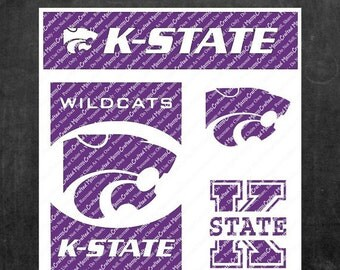 Kansas State University (K-State) Wildcats Inspired Cutting Files For Silhouette, Cricut and Other Craft Cutters & Plotters (svg, dxf, png)