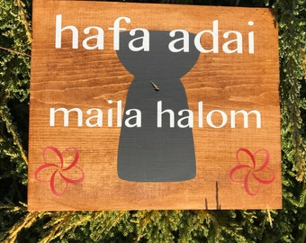 Hafa Adai Sign - Guam Welcome Sign - Hafa Adai - Chamorro Sign - Welcome Come In -Welcome Sign - Chamorro -
