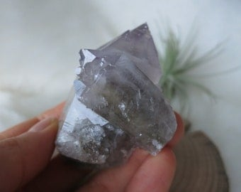 Gorgeous Amethyst Point With Self-Healed Penetrator From Huang Gang Iron Mine, Chi Feng City, Inner Mongolia - ITEM #94 - 6.6 x 3.8 x 3.6cm