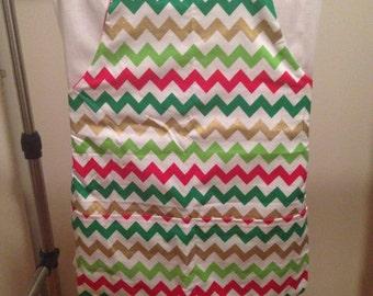 Child's reversible Christmas apron
