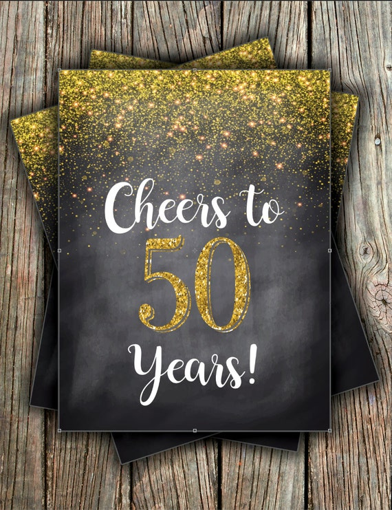 Cheers To....Chalkboard - Great for Any Age Birthday or Anniversary